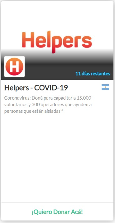 Proyecto Helpers covid 19