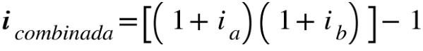 combinacion de tasas efectivas sumatoria