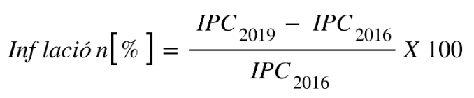 fórmula para calcular inflación acumulada