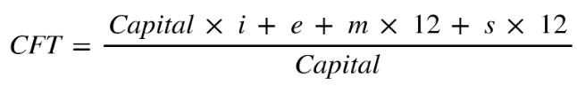 formula para calcular cft de prestamos