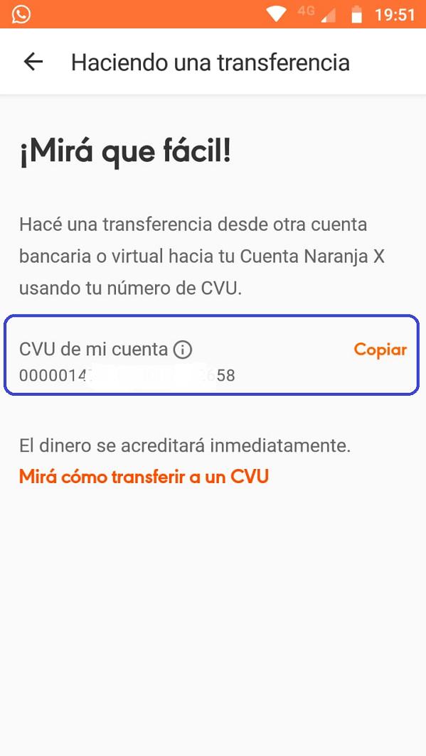 Naranja X CVU 3